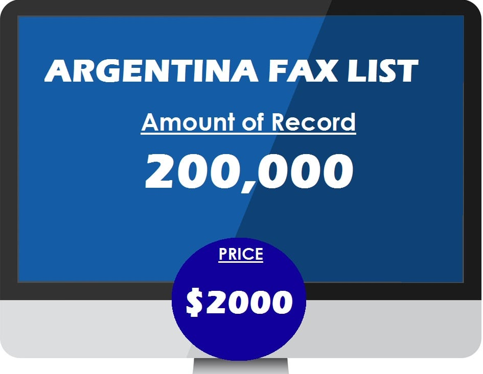 Buy ARGENTINA fax list