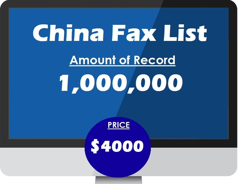 Buy China Fax List