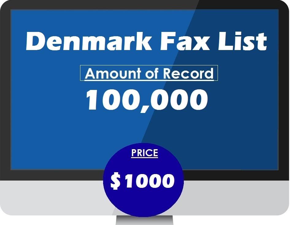 Buy Denmark fax list