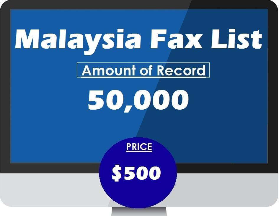 Buy Malaysia Fax List