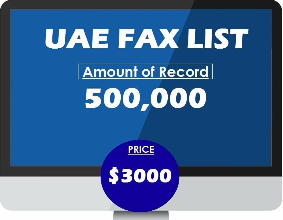 Buy UAE FAX LIST
