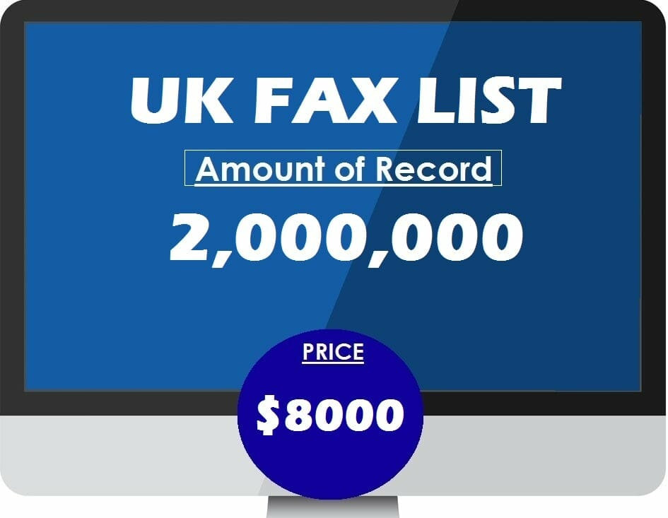 Buy UK FAX LIST