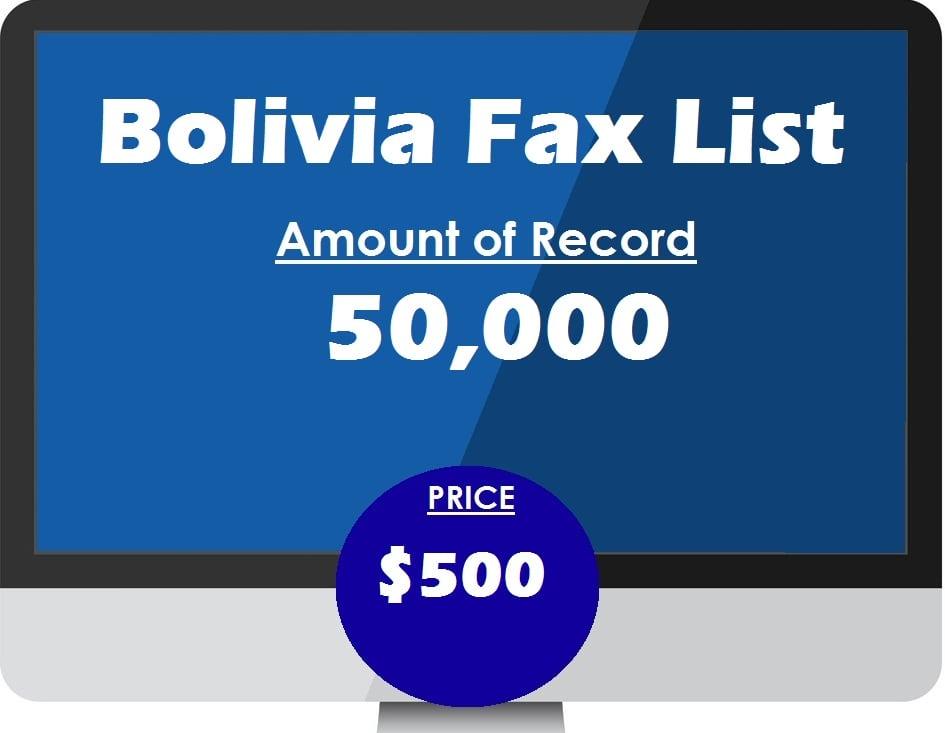 Buy bolivia fax list