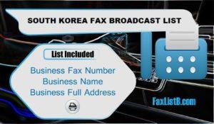 SOUTH KOREA FAX BROADCAST LIST