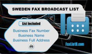 SWEDEN FAX BROADCAST LIST