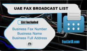 UAE FAX BROADCAST LIST